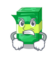 Angry stacks money dollar on bank character vector