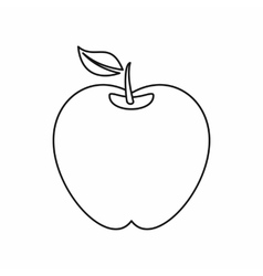 Apple icon in outline style vector
