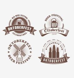 Beer festival oktoberfest celebrations set vector