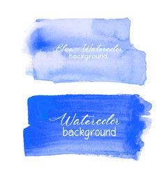 Blue brush stroke watercolor on white background vector