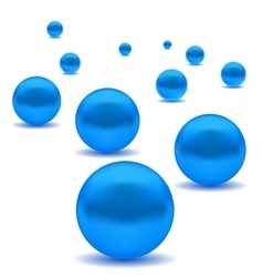 Blue Pearls vector image