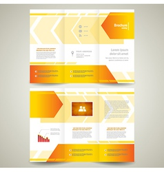 brochure design leaflet geometric abstract arrow vector image