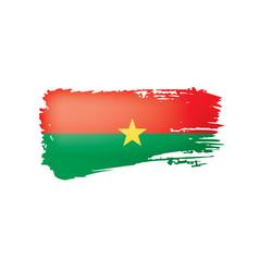 burkina faso flag on a white vector image