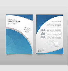 business brochure flyer design a4 template with vector image