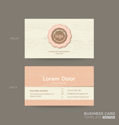 Business card for gift shop coffee or bakery shop vector