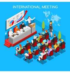 Business Meeting People Isometric vector