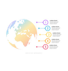 business timeline with globe infographic vector image