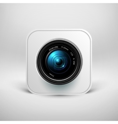 Camera icon photo lens with shutter vector