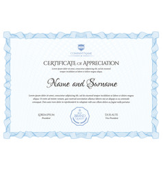 certificate template diploma of modern design vector image