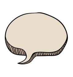 Chat bubble comic vector