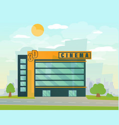 cinema building flat style vector image