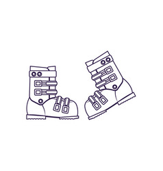 Climbing boots isolated icon vector