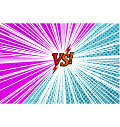 Comic versus rivalry template vector