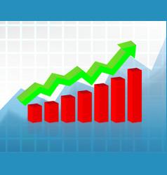 concept stock market graph vector image