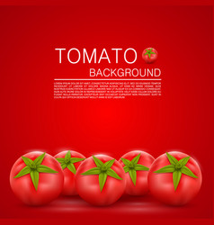 Cover with tomatoes vector