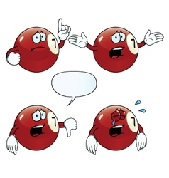 Crying billiard ball set vector image