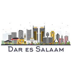 Dar es salaam tanzania skyline with color vector