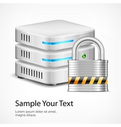 Database security concept vector image