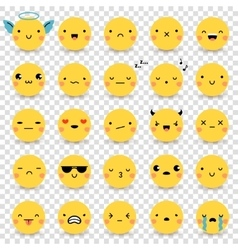 Emoticons Transparent Set vector image