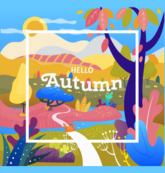fall season autumn sale cover fantasy landscape vector image