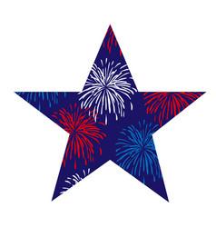 fireworks star vector image