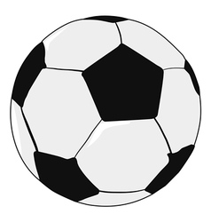 Football ball sport object vector
