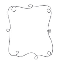 frame of marine rope isolated object vector image
