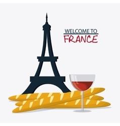 France design eiffel tower landmark vector image