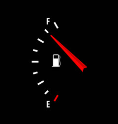 Fuel gauge icon isolated on black background vector