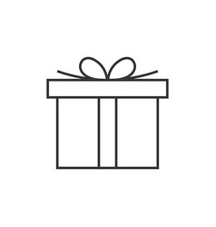 gift box line icon vector image