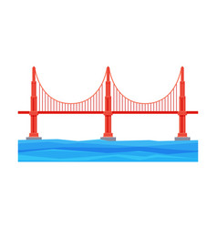 golden gate bridge architecture and city vector image