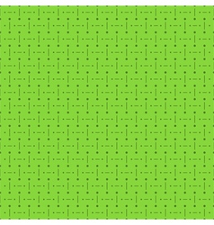Green Seamless Pattern with Dots and Lines vector image