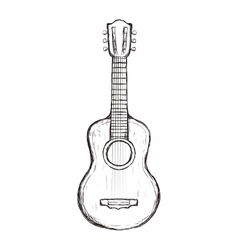 Guitar string instrument music icon vector