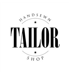 handsews tailor shop sign logo vector image