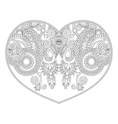 heart shaped pattern for adult and older children vector image