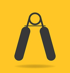 Icon of hand grip exerciser or trainer vector image