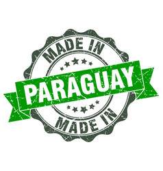 Made in paraguay round seal vector