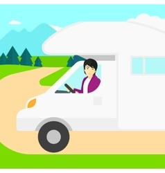 Man driving motor home vector image