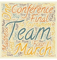 MARCH MADNESS You Can Bet on It text background vector