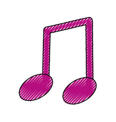 Music note isolated vector