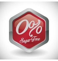 No sugar or sugar free vector image