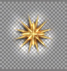 north star gold wind rose golden compass design vector image
