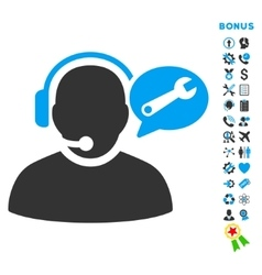 Operator Service Message Flat Icon with vector image