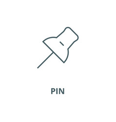 pin line icon linear concept outline sign vector image