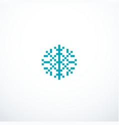 pixel snowflake icon vector image