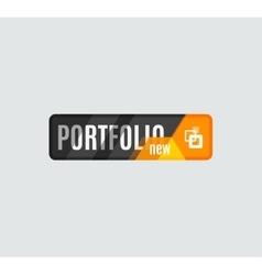 Portfolio button futuristic hi-tech ui design vector