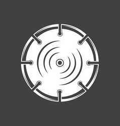 Saw blade isolated on black background vector