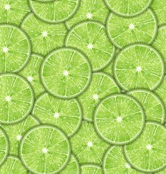 Seamless Pattern Slices of Lime vector image