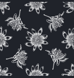 Seamless pattern with hand drawn chalk passion vector