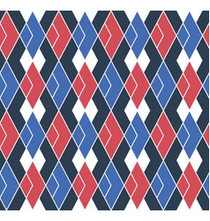 Seamless wallpaper stripes rhombuses vector